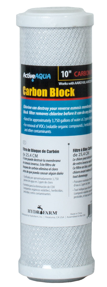 "Active Aqua 10"" Carbon Block Filter-NWGSupply.com"