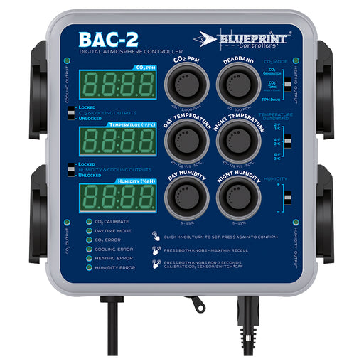 Blueprint Controllers Digital Atmosphere Controller w/ Fuzzy Logic, BAC-2-NWGSupply.com