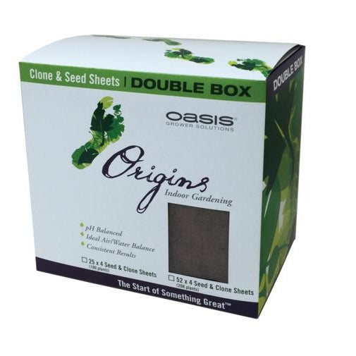 "Oasis Origins Seed & Clone Double Box, 2"" x 2""-NWGSupply.com"