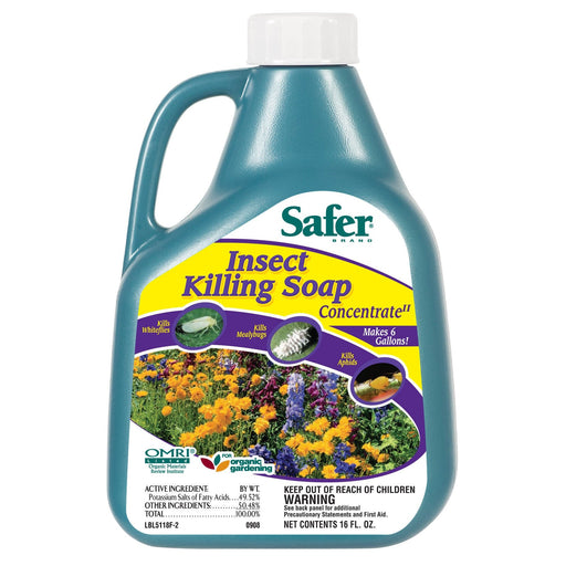 Safer Insect Killing Soap Concentrate, 16 oz-NWGSupply.com