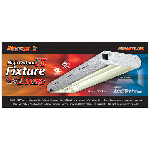 Pioneer Jr. 2' x 2 Tube T5 Fixture with Grow Tubes-NWGSupply.com