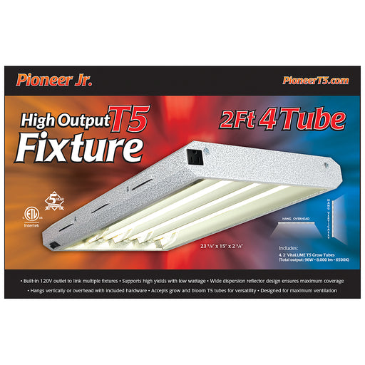 Pioneer Jr. 2' x 4 Tube T5 Fixture with Grow Tubes-NWGSupply.com
