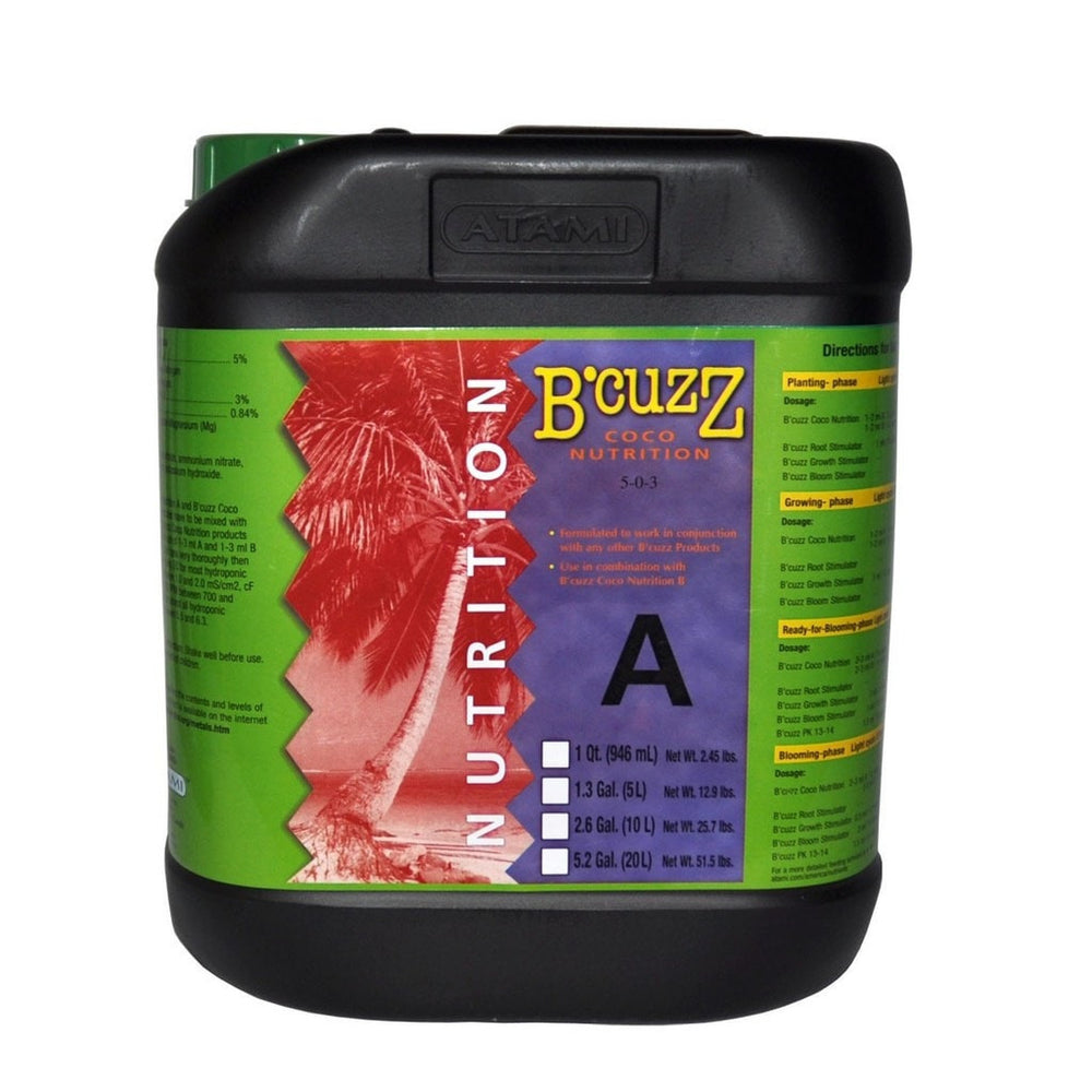 20L B'Cuzz Coco Nutrition Component A-NWGSupply.com