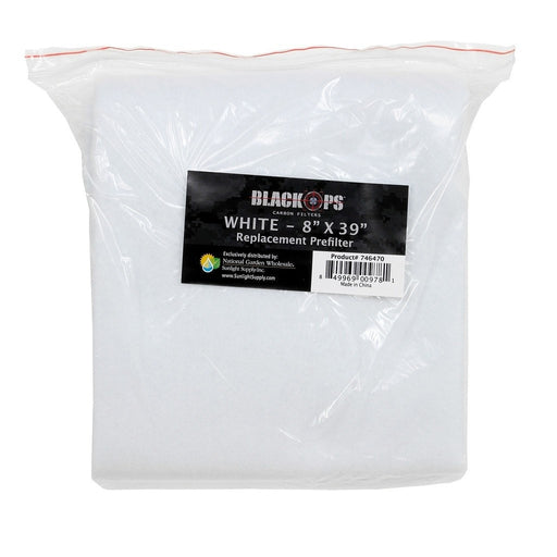 Black Ops Replacement Pre-Filter 8 in x 39 in White-NWGSupply.com