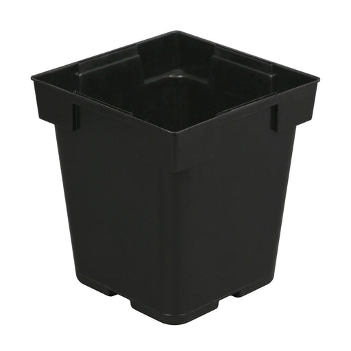 Gro Pro Black Pastic Pot 5 in x 5 in x 6.5 in-NWGSupply.com