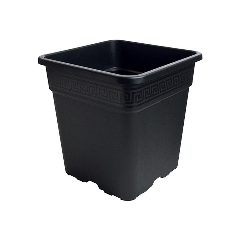 Black Square Pot 1 Gallon-NWGSupply.com
