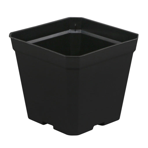 Gro Pro Black Plastic Pot 4 in x 4 in x 3.5 in-NWGSupply.com