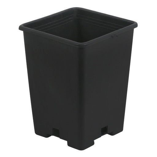 Gro Pro Black Plastic Square Pot 5 x 5 x 7 in-NWGSupply.com