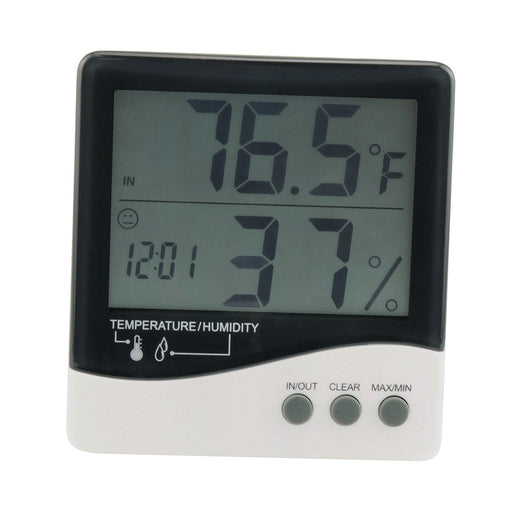 Grower's Edge Large Display Thermometer / Hygrometer-NWGSupply.com
