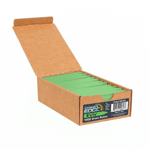 Grower's Edge Plant Stake Labels Green - 1000/Box-NWGSupply.com