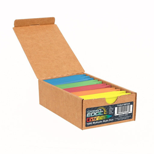 Grower's Edge Plant Stake Labels Multi-Color Pack - 1000/Box-NWGSupply.com