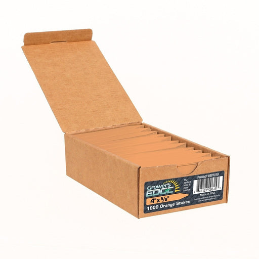 Grower's Edge Plant Stake Labels Orange - 1000/Box-NWGSupply.com