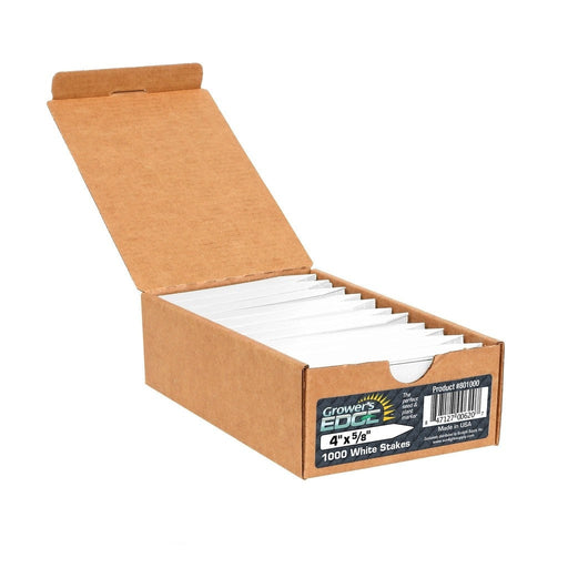 Grower's Edge Plant Stake Labels White - 1000/Box-NWGSupply.com