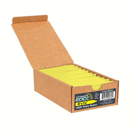 Grower's Edge Plant Stake Labels Yellow - 1000/Box-NWGSupply.com