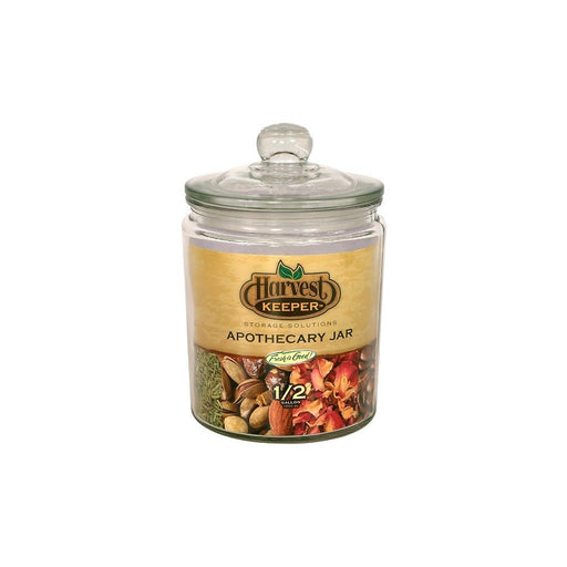 Harvest Keeper Harvest Keeper Glass Storage Apothecary Jar w/ Sealed Lid - 1/2 Gallon (Case of 6)