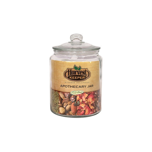 Harvest Keeper Harvest Keeper Glass Storage Apothecary Jar w/ Sealed Lid 1.5 Gallon (Case of 4)
