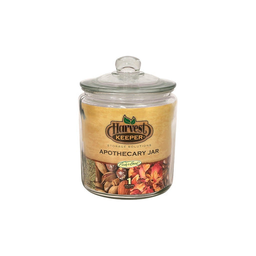 Harvest Keeper Harvest Keeper Glass Storage Apothecary Jar w/ Sealed Lid - 1 Gallon (Case of 6)