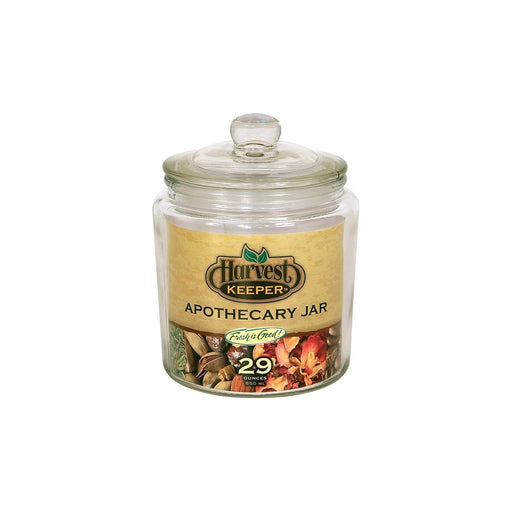 Harvest Keeper Glass Storage Apothecary Jar w/ Sealed Lid - 29 oz (Case of 24)-NWGSupply.com
