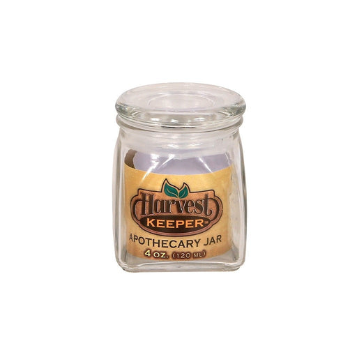 Harvest Keeper Harvest Keeper Glass Storage Apothecary Jar w/ Sealed Lid - 4 oz (Case of 72)
