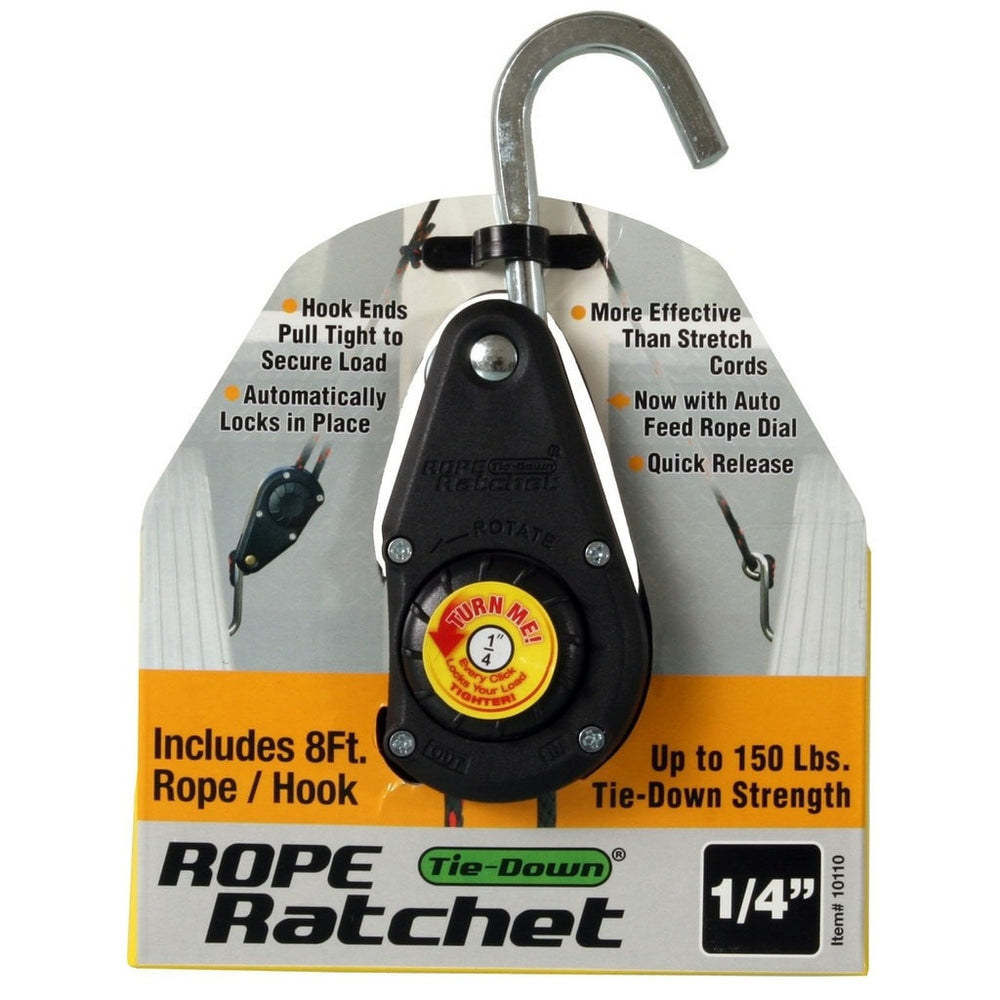 "1/4"" Rope Ratchet with 8' Heavy Duty Nylon Rope-NWGSupply.com"