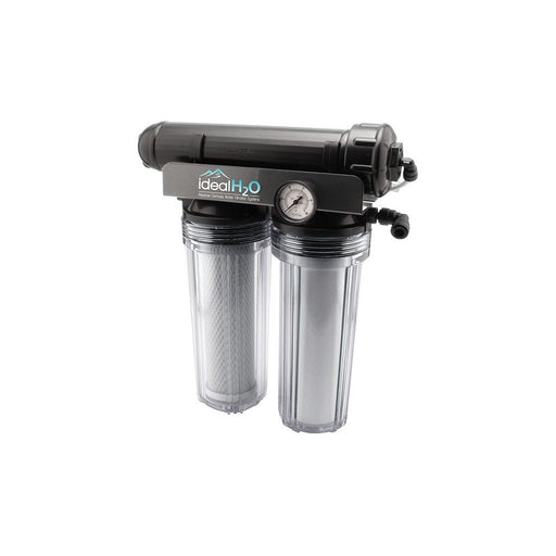 Ideal H2O Premium 3 Stage RO System w/ Upgraded Catalytic Carbon Pre Filter + PSI Gauge - 100 GPD-NWGSupply.com