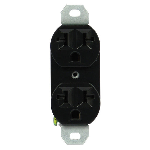 Lighting Components 120/240 20A-universal duplex outlet black