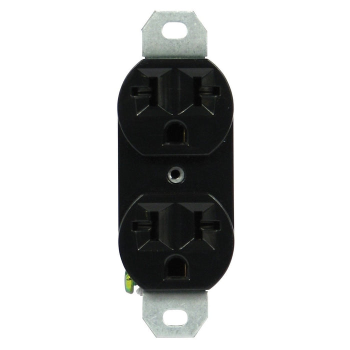 120/240 20A-universal duplex outlet black-NWGSupply.com