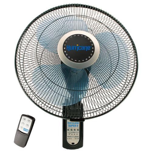 Hurricane Super 8 Oscillating Digital Wall Mount Fan 16 in (48/Plt)-NWGSupply.com