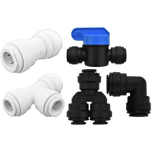 Ideal H2O JG Quick Connect Fitting - Tee - 1/4 in - Black-NWGSupply.com