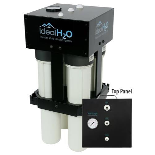 Ideal H2O High Output RO W/ Dual Catalytic Carbon Pre-filters - 700 GPD-NWGSupply.com