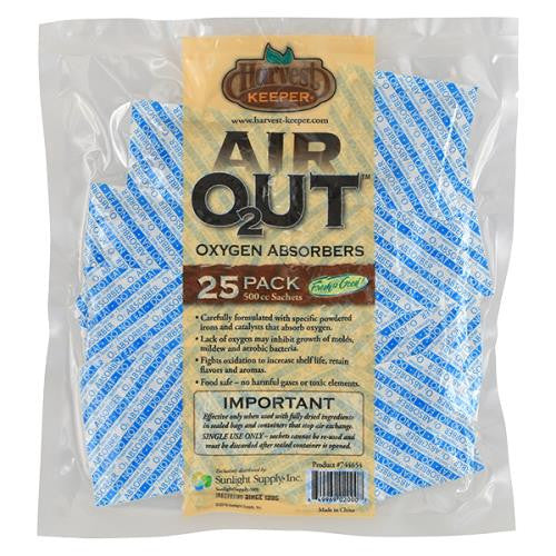 Harvest Keeper Air Out Oxygen Absorber 500 cc (1=25/Bag)-NWGSupply.com