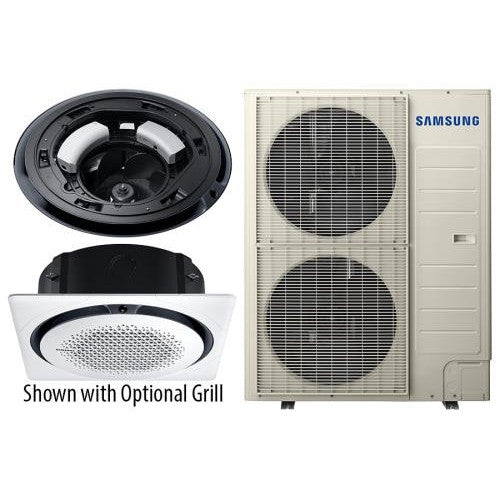 Samsung 360 Ceiling Cassette Indoor/Outdoor Unit 48,000 BTU 208 / 230 Volt 1 Phase (2 Boxes)-NWGSupply.com