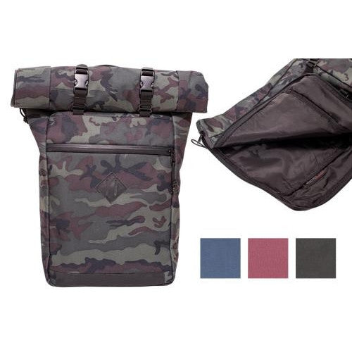 Abscent Scout Roll-Top Backpack - Black Forest-NWGSupply.com