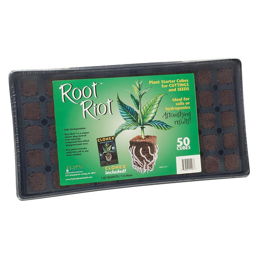 Root Riot Tray w/ 50 Root Riot Cubes-NWGSupply.com