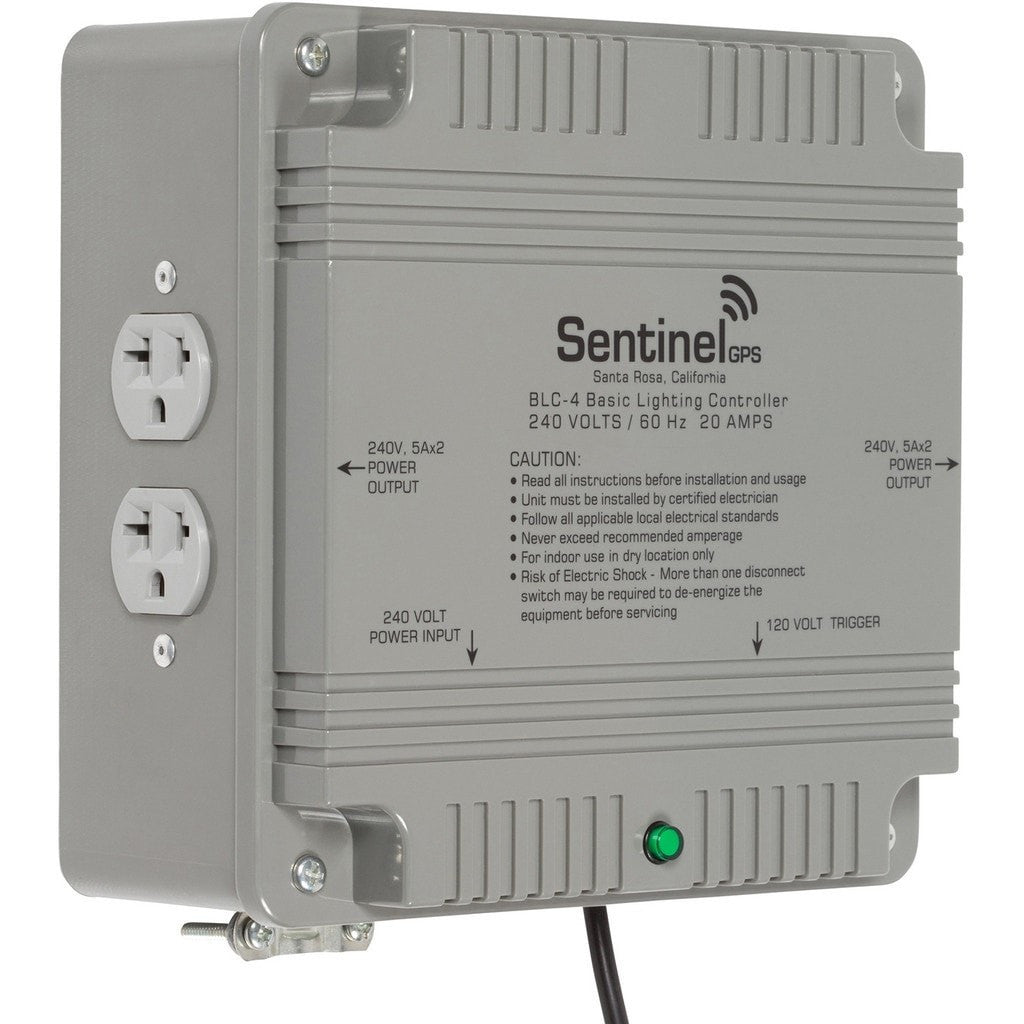 Sentinel Gps Blc 4 Basic Lighting Controller Outlet 120 And 240 Volt Receptacles How To Install A Switch Or Receptacle