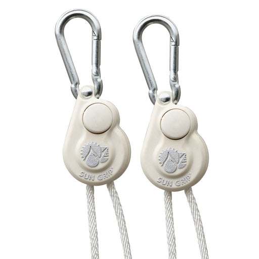 Sun Grip Push Button Light Hanger 1/8 in White -1/Pair-NWGSupply.com