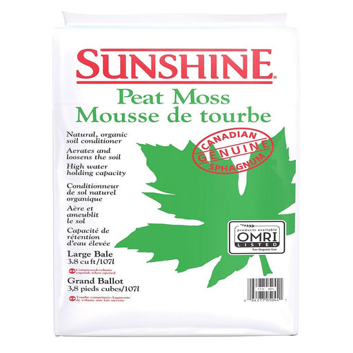 Sunshine Peat Moss, 3.8 cu ft-NWGSupply.com