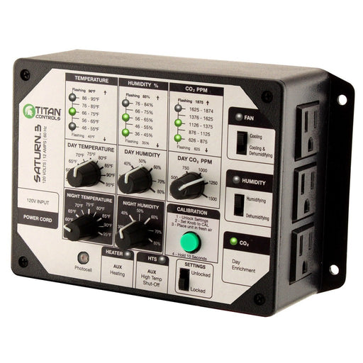 Titan Controls Saturn 3 - Digital Temperature, Humidity & CO2 Controller-NWGSupply.com