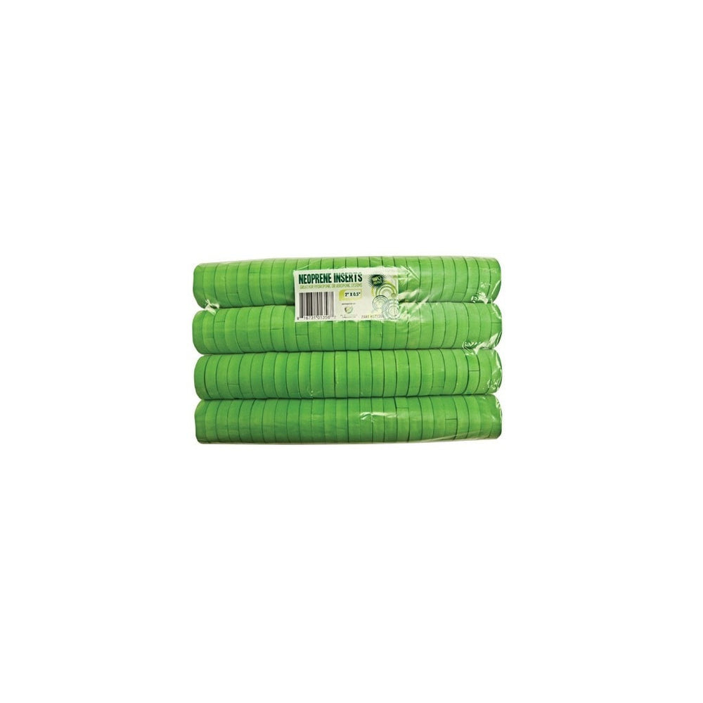 "vendor-unknown 2"" Green Neoprene Inserts"