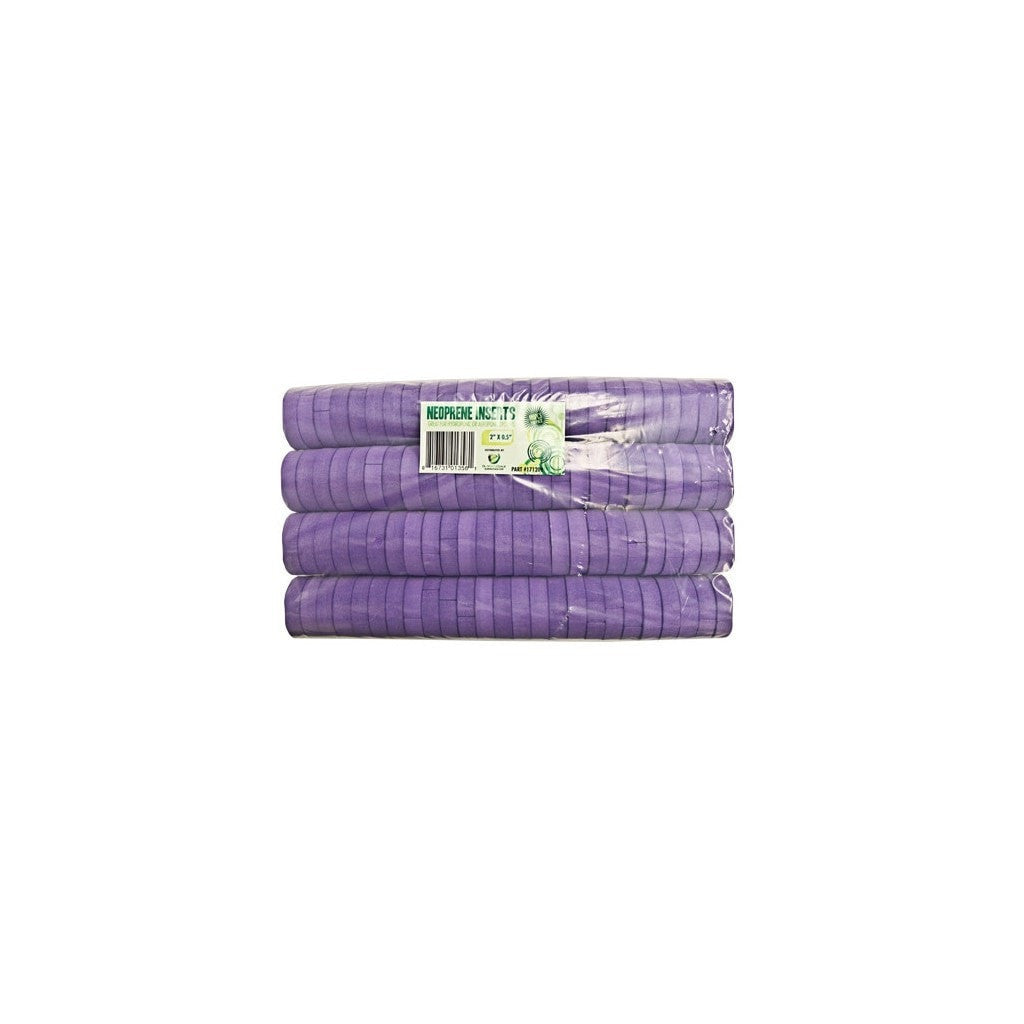 "vendor-unknown 2"" Purple Neoprene Inserts"