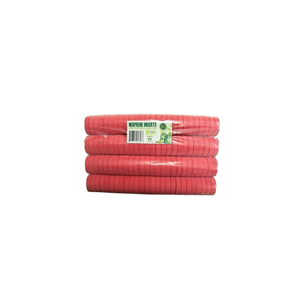 "vendor-unknown 2"" Red Neoprene Inserts"