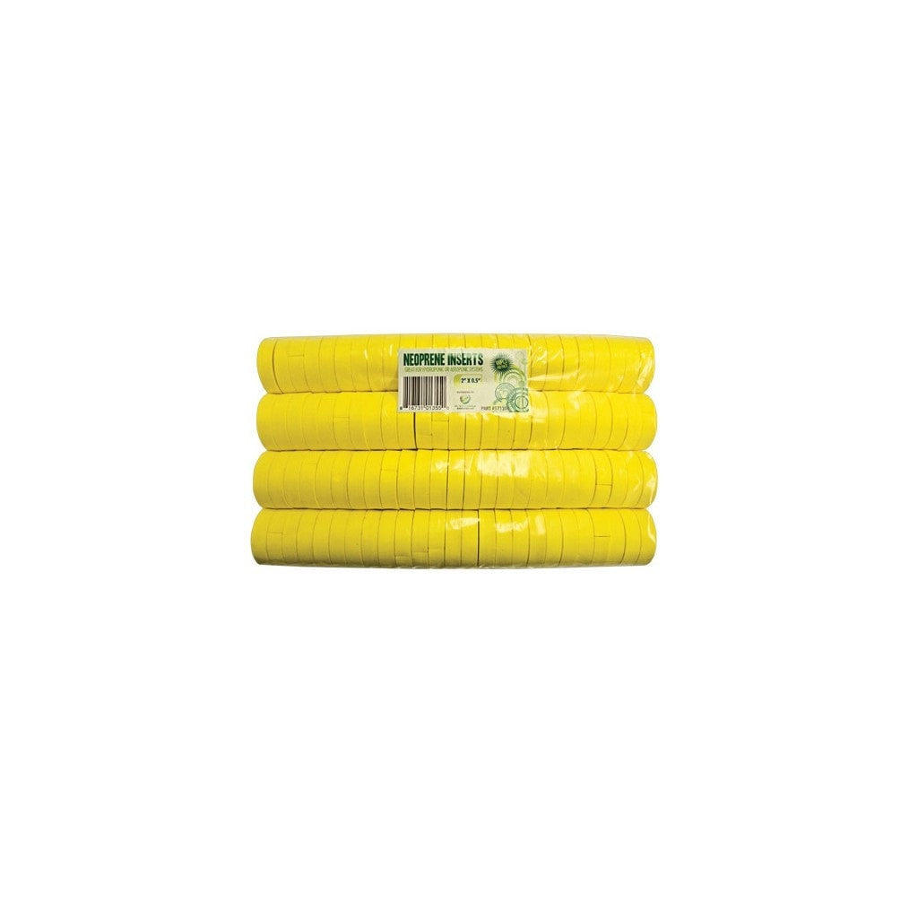 "vendor-unknown 2"" Yellow Neoprene Inserts"