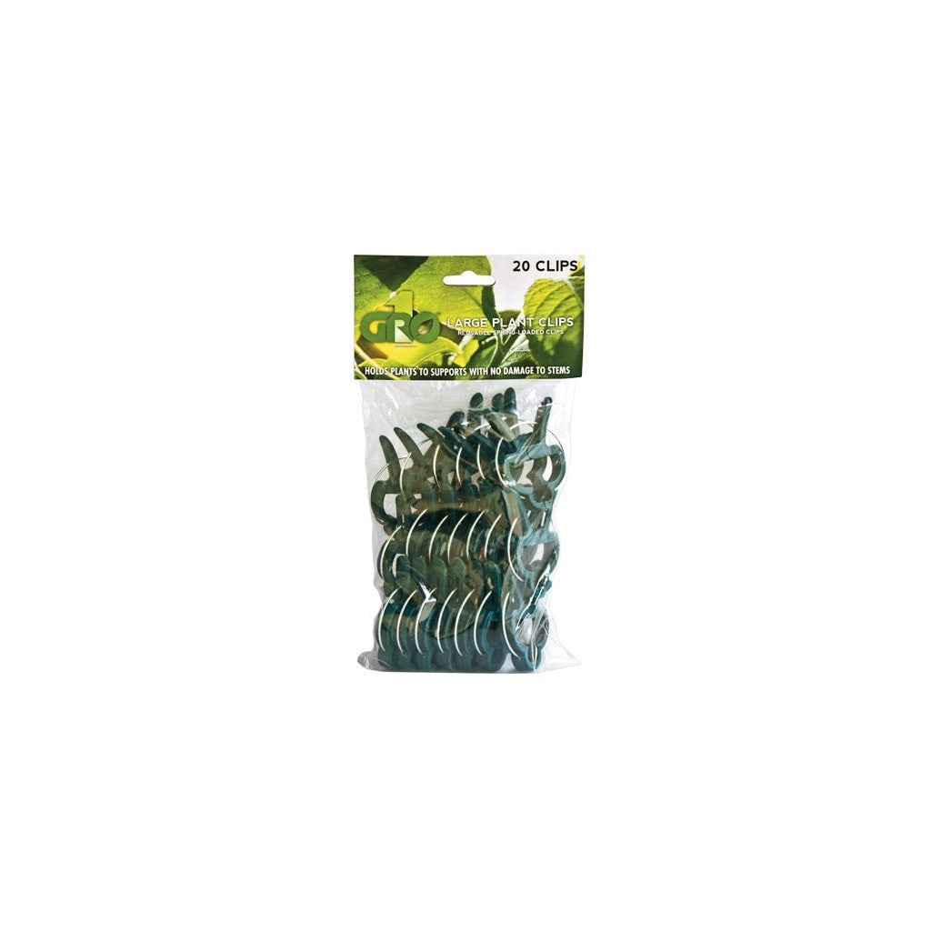 vendor-unknown Gro1 Large Plant Clips - 20 pack