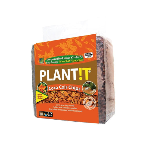 Plant !t Organic Coco Coir Chips, Block-NWGSupply.com