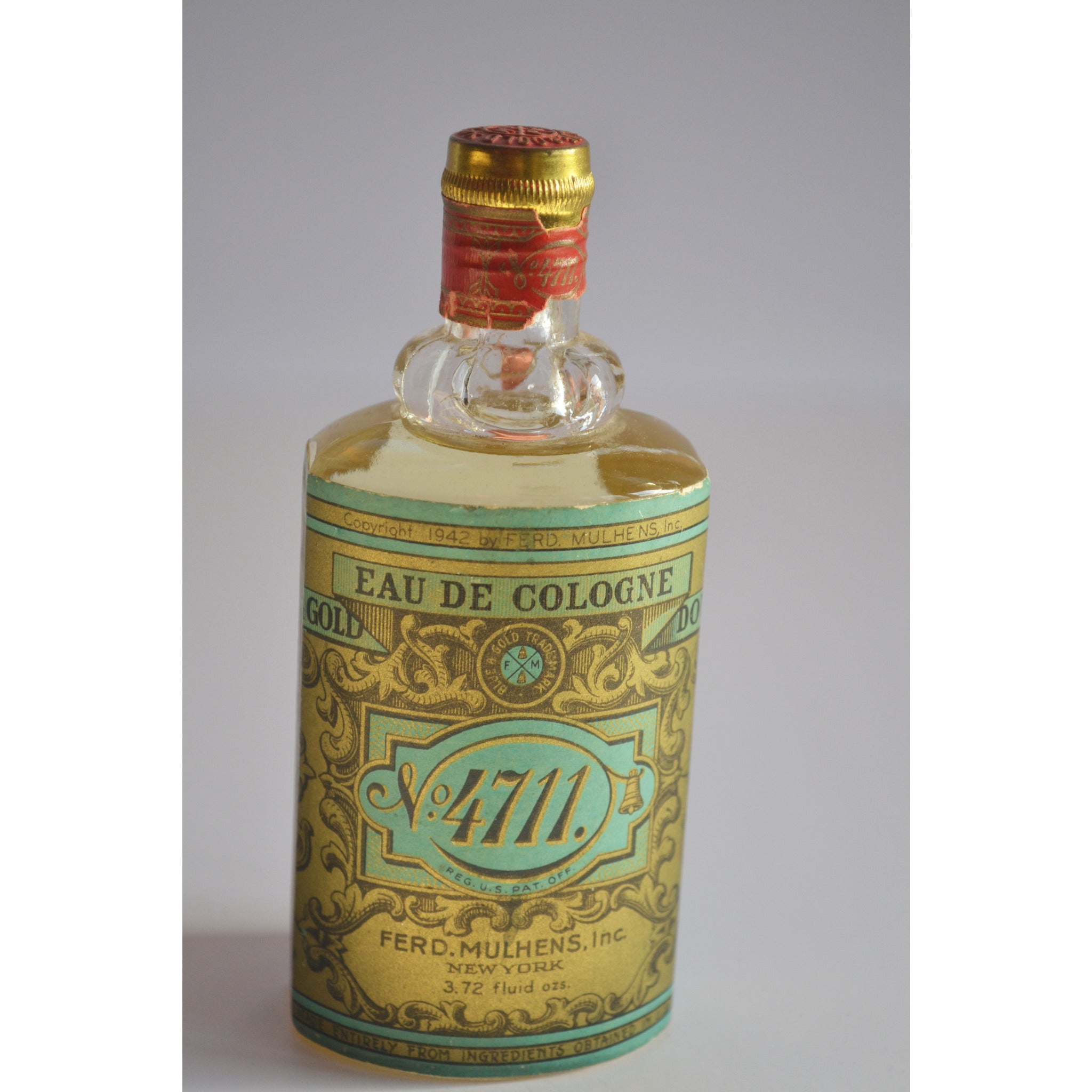 Vintage No. 4711 Cologne By Ferd Mulhens