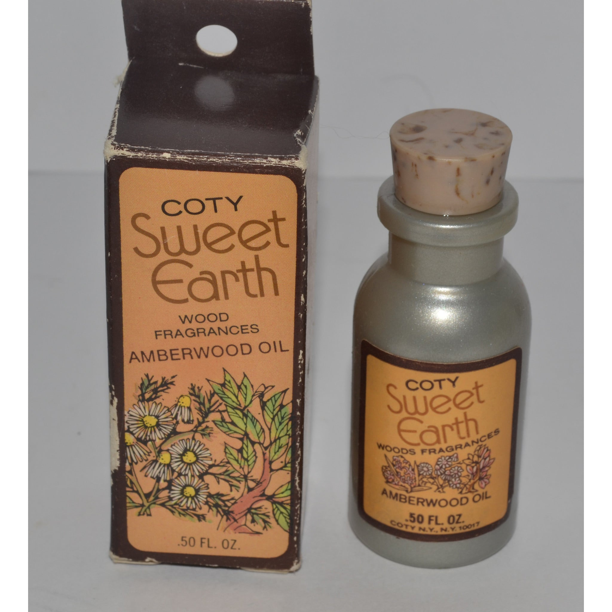 Vintage Sweet Earth Amberwood Oil By Coty