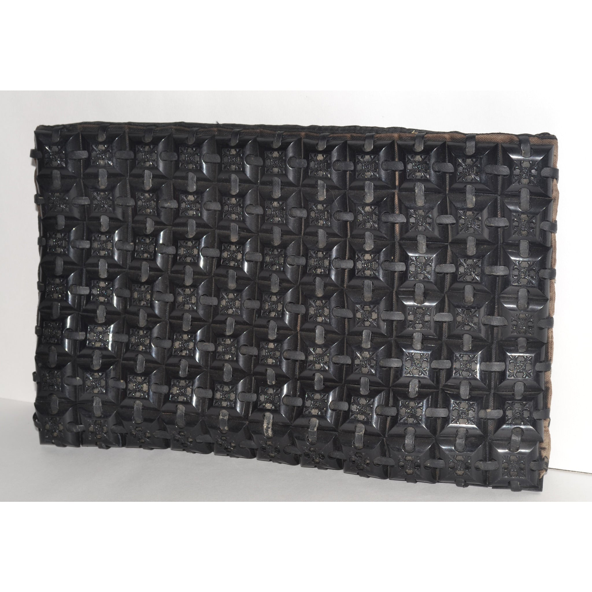 Vintage Black Plastiflex Clutch Purse - 1940's