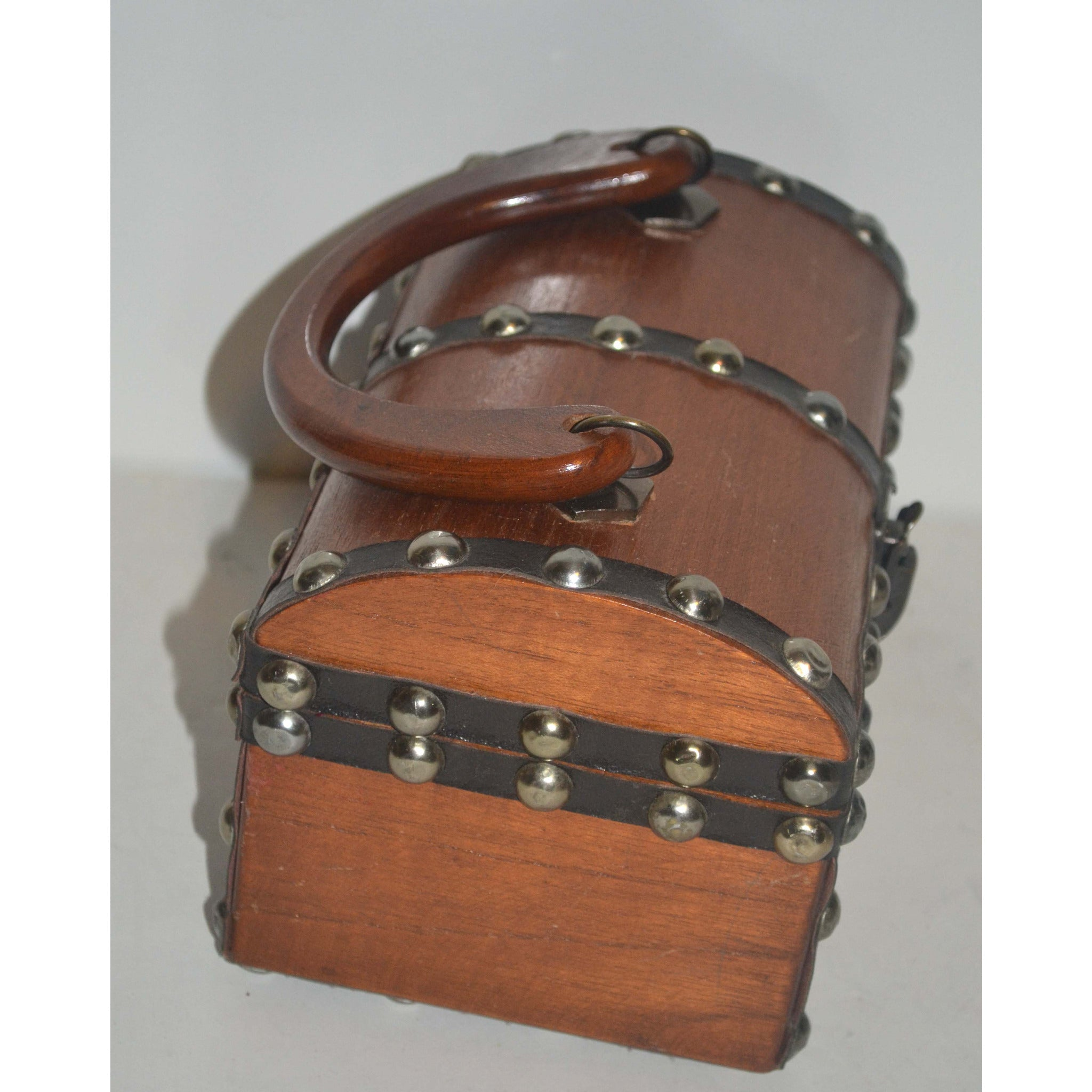 Vintage Brown Wooden Treasure Chest Purse Quirkyfinds