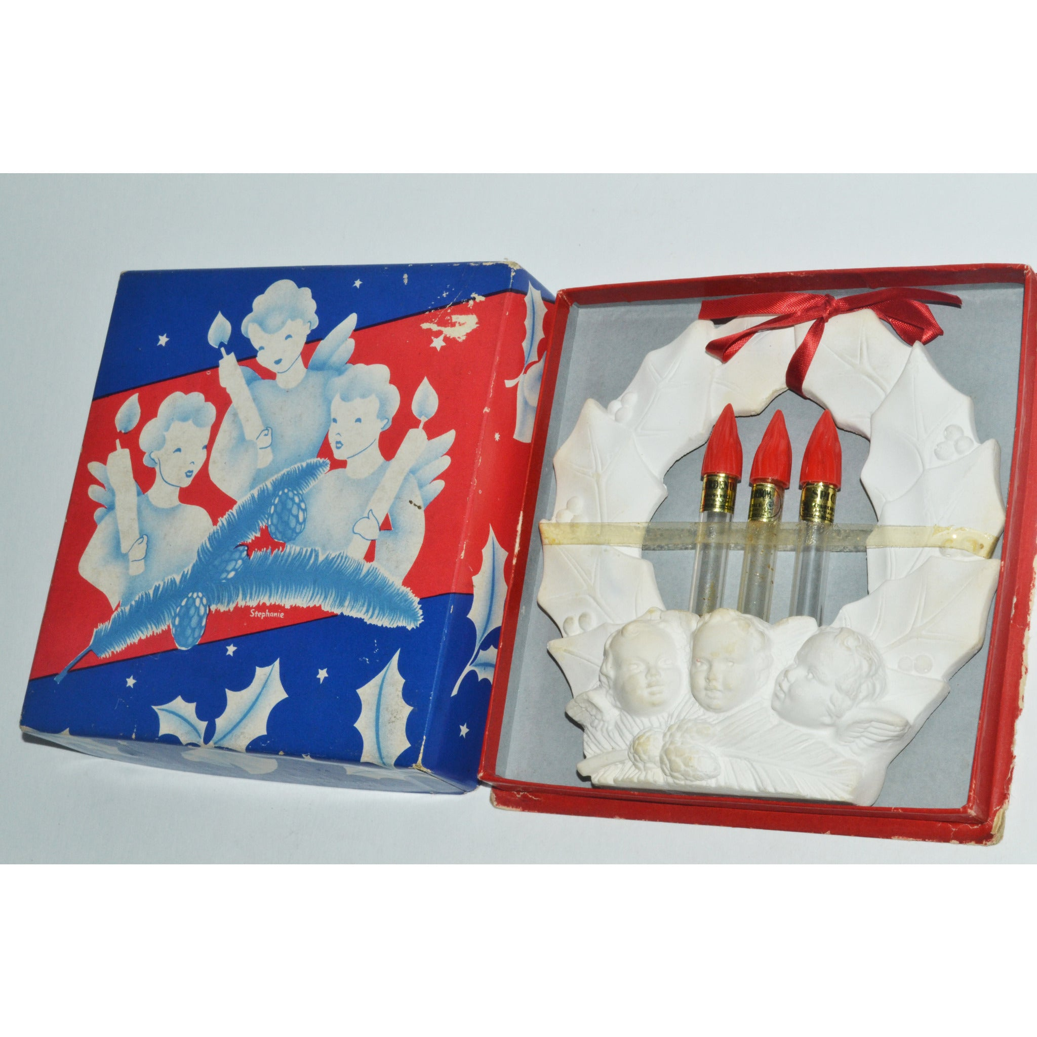 Vintage Holiday Wreath Perfume Set By Churchhill