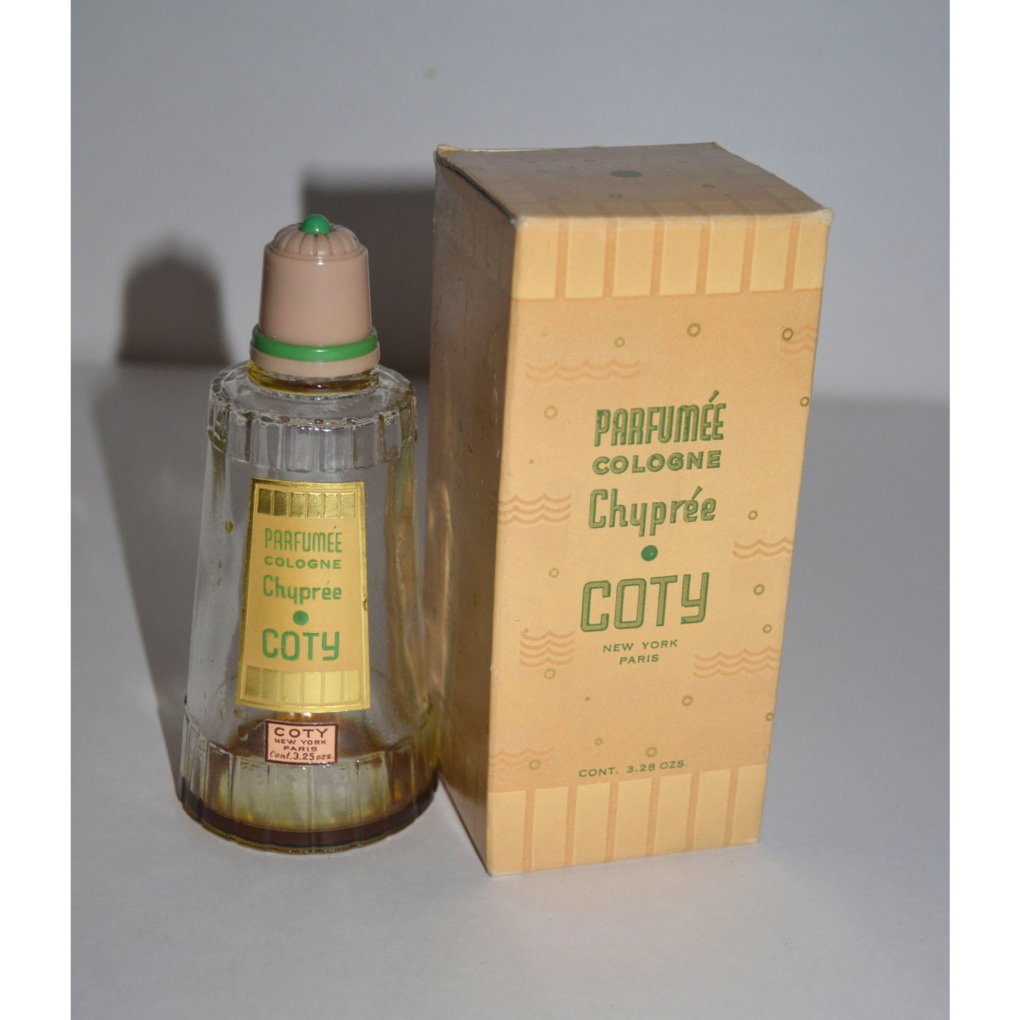 Vintage Coty Chypre Parfumee Cologne